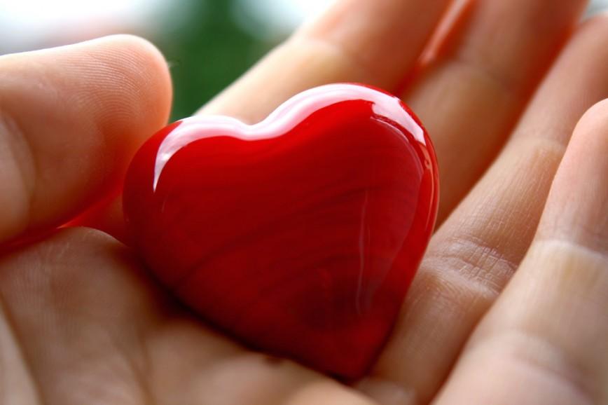 Машины, картинка с сердцем в ладонях